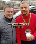Wes Brown, Manchester Utd, signed 12x8 inch photo.